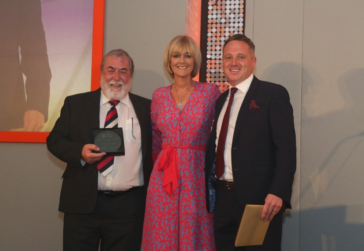 Concept Chairman, Carl Gibbard, receiving the award for Best International Partnership