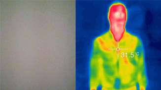 Image of a man using a thermal camera