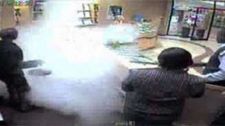 CCTV of Smoke Screen activation in jewellery store in South