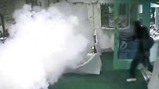 CCTV still of Smoke Screen protecting a jewellers in Dublin