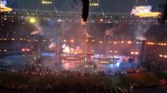 Still of the Olympic Games opening ceremony